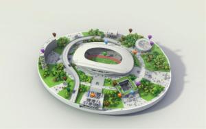 3D stade photo réaliste